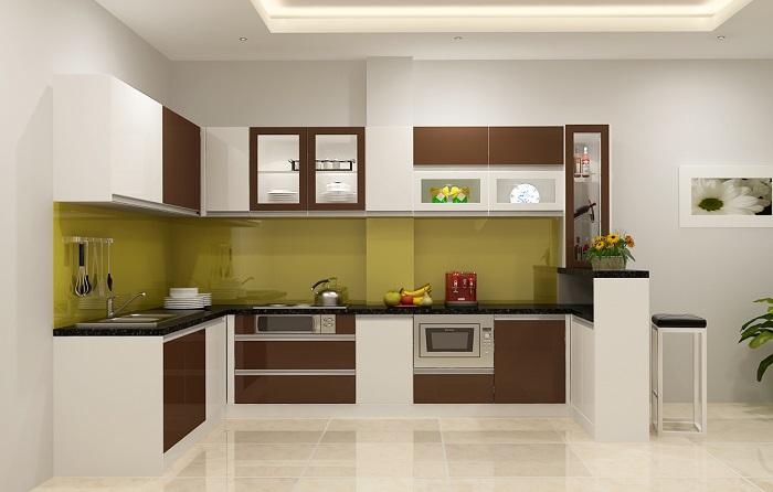 6 kiểu dáng tủ bếp acrylic thông dụng nhất hiện nay
