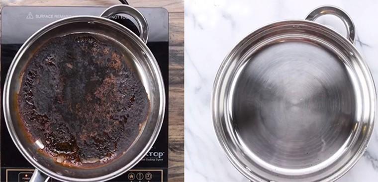 10 cách rửa nồi bị cháy đen hiệu quả sạch như mới-9