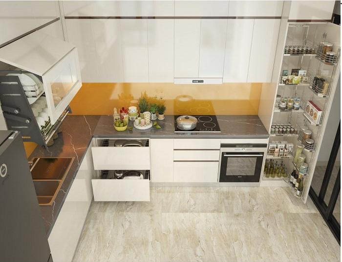 Tủ bếp đẹp phù hợp với xu thế tiêu dùng 2019