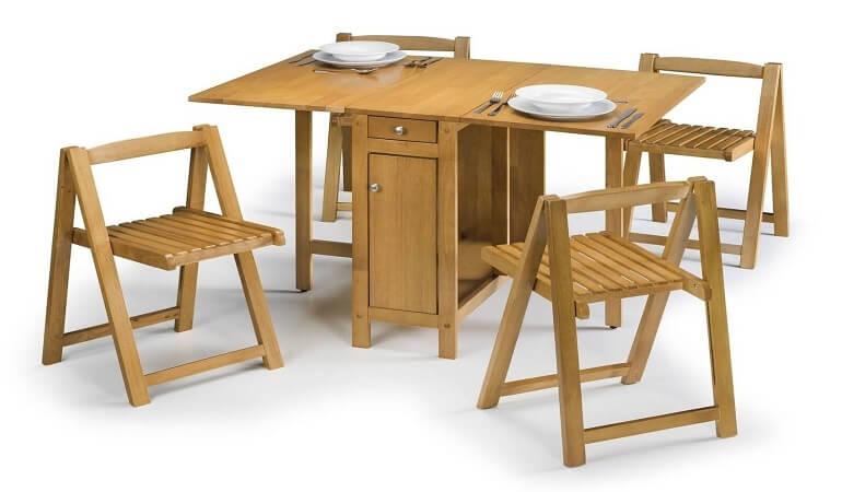 Căn bếp đẳng cấp với bàn ăn thông minh gỗ tự nhiên-1