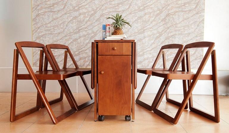 Căn bếp đẳng cấp với bàn ăn thông minh gỗ tự nhiên-5