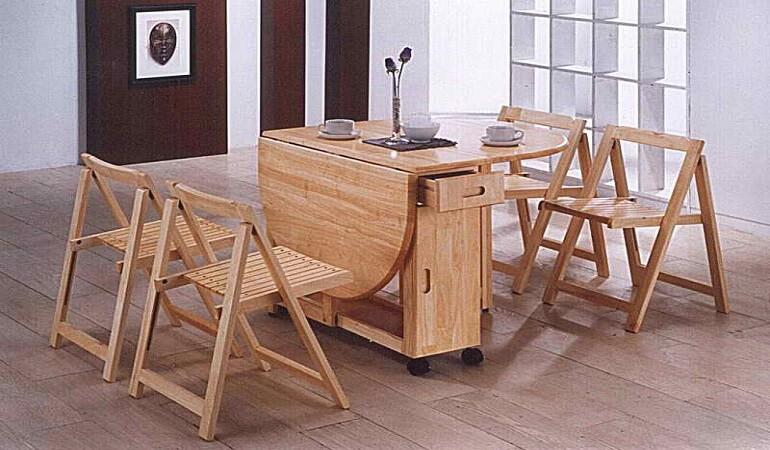 Căn bếp đẳng cấp với bàn ăn thông minh gỗ tự nhiên-6