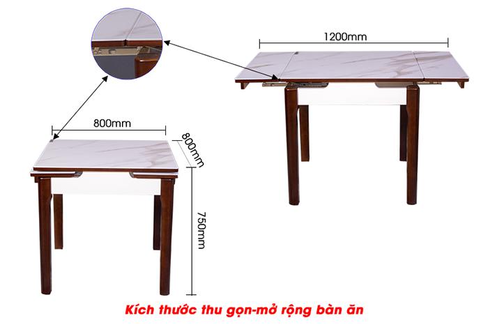 Bộ bàn ăn thông minh 863 (Kèm 4 ghế)-5