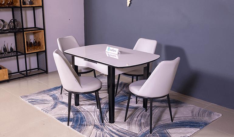 Bộ bàn ăn thông minh mở rộng B68 (Kèm 4 ghế)-01