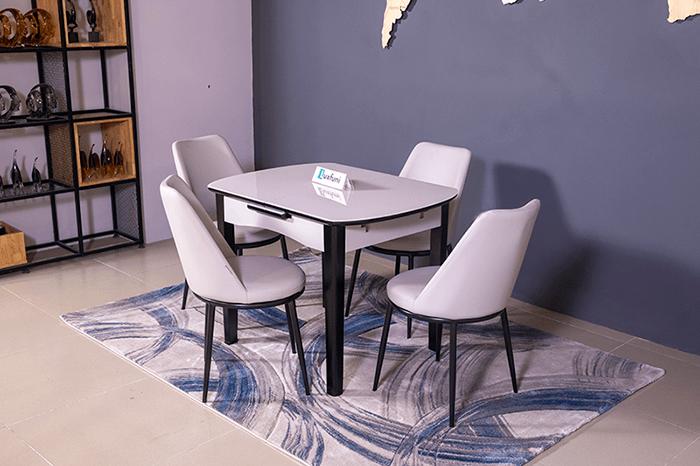 Bộ bàn ăn thông minh mở rộng B68 (Kèm 4 ghế)-1