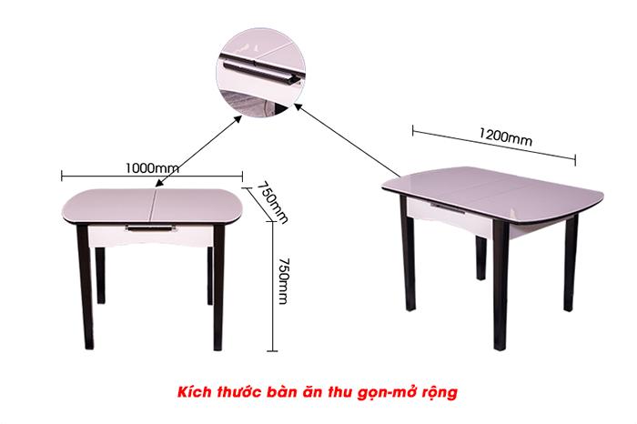 Bộ bàn ăn thông minh mở rộng B68 (Kèm 4 ghế)-4