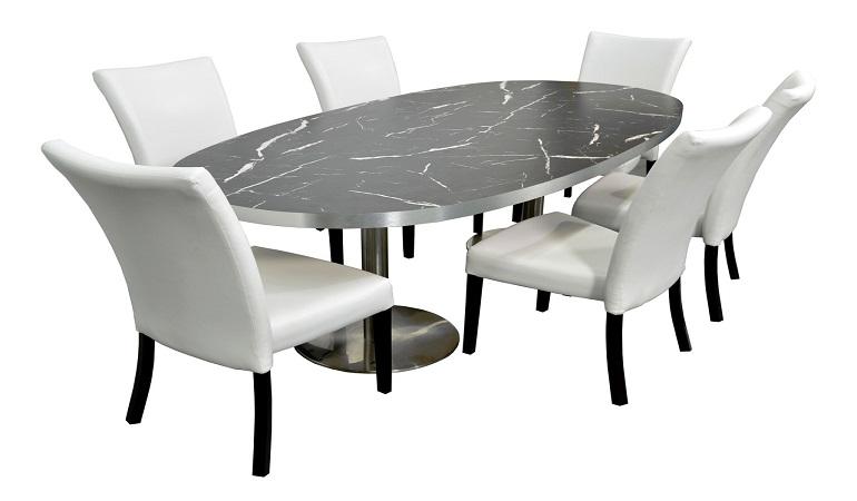 Điểm danh những bộ bàn ăn 6 ghế mặt đá bán chạy nhất