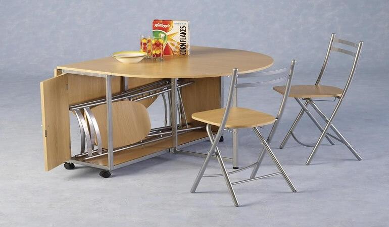 Sự tiện lợi của bộ bàn ăn thông minh có bánh xe-1