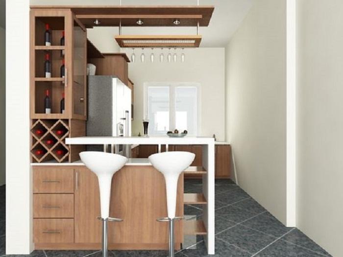 Các mẫu tủ bếp gỗ tự nhiên kiểu dáng chữ U không thể bỏ qua
