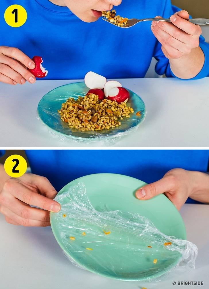 11 mẹo gia đình hay với màng bọc thực phẩm-10