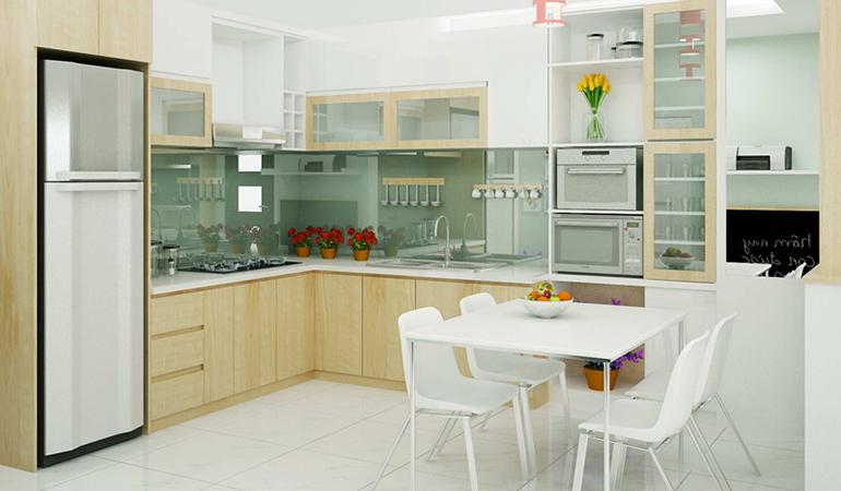 Chia sẻ cách bố trí bàn ăn trong bếp nhỏ hẹp