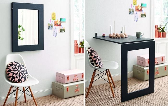 Bàn xếp tường thông minh - Giải pháp cho căn phòng nhỏ-1