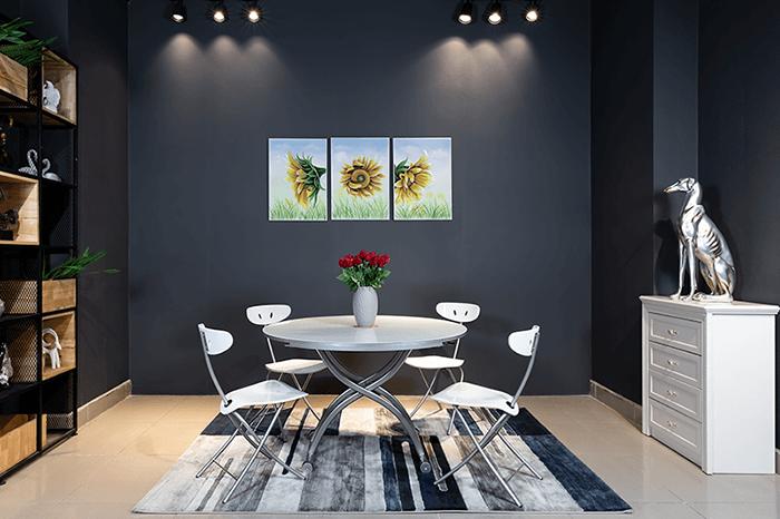 Cách chọn bàn ăn đẹp và tiện lợi cho chung cư thêm sang trọng