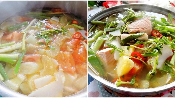 Cách chế biến canh chua cá hồi - món ăn tốt cho tim mạch-1
