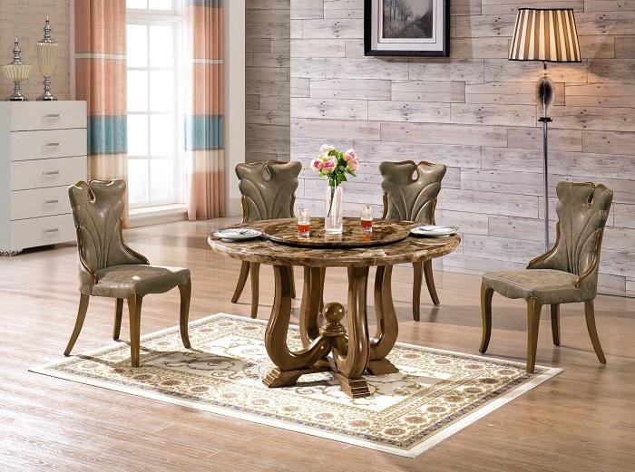 Những mẫu bàn ăn cơm tròn vừa đẹp lại tiết kiệm diện tích
