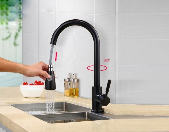 Vòi rửa chén dây rút – đặc tính và ưu, nhược điểm-3