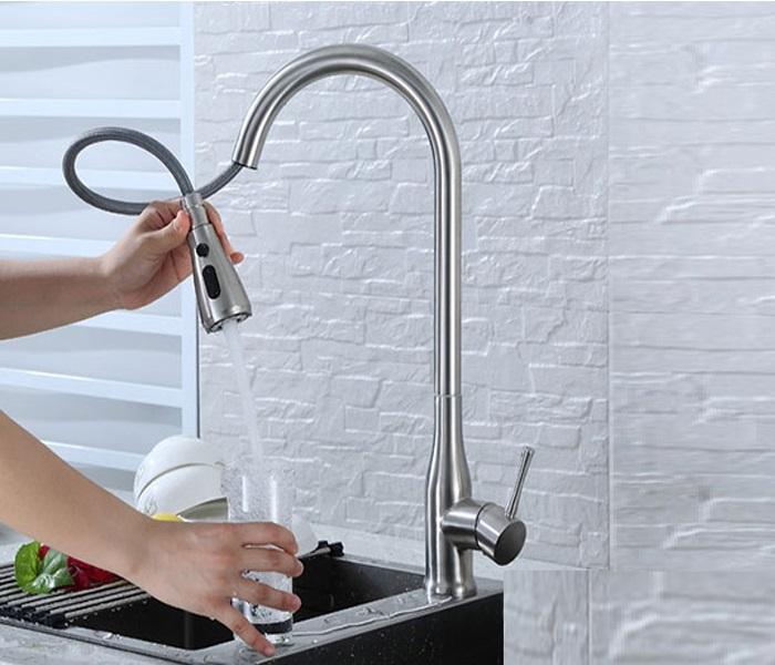 Vòi rửa chén dây rút – đặc tính và ưu, nhược điểm-5