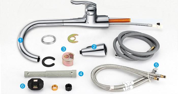 Vòi rửa chén dây rút – đặc tính và ưu, nhược điểm-6