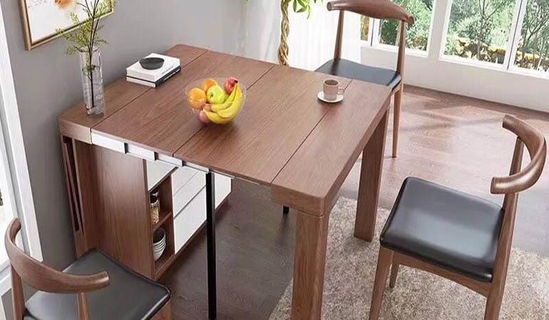 Bàn ăn thông minh gỗ sồi - mang lại sự sang trọng cho không gian