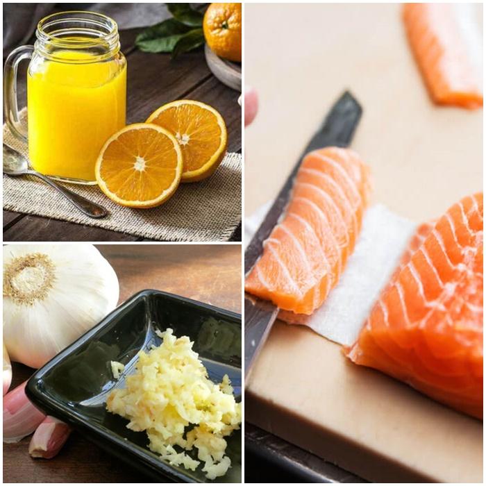 Cách chế biến cá hồi sốt cam, một món ăn bổ phổi-1