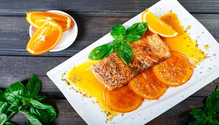 Cách chế biến cá hồi sốt cam, một món ăn bổ phổi-5