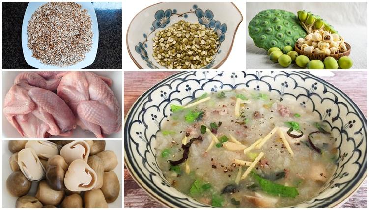Cháo bồ câu hạt sen - món ăn cho người già răng yếu-7