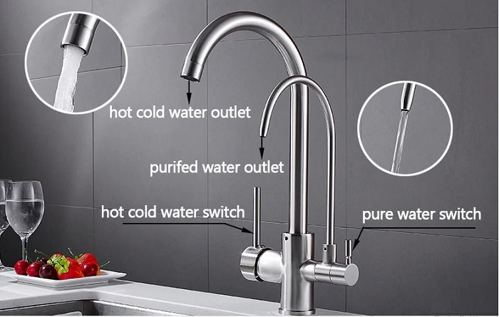 Đặc điểm và tính năng cơ bản của vòi rửa bát 3 đường nước-4