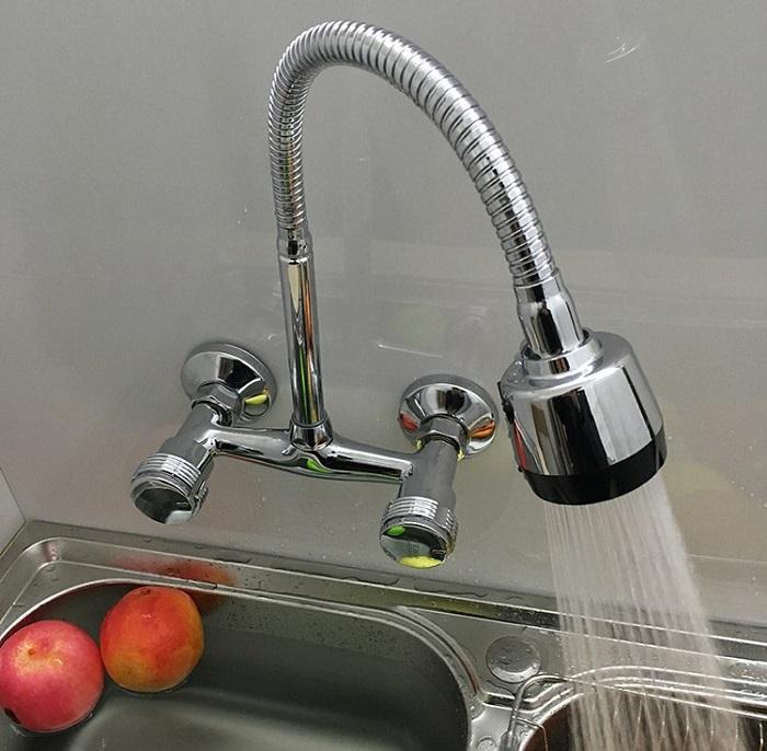 Một số lỗi khi sử dụng vòi rửa bát nóng lạnh gắn tường-1