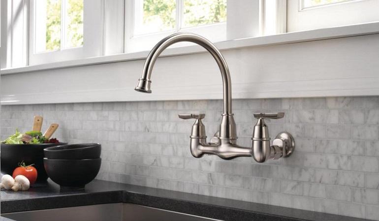 Một số lưu ý khi lắp đặt vòi rửa bát gắn tường