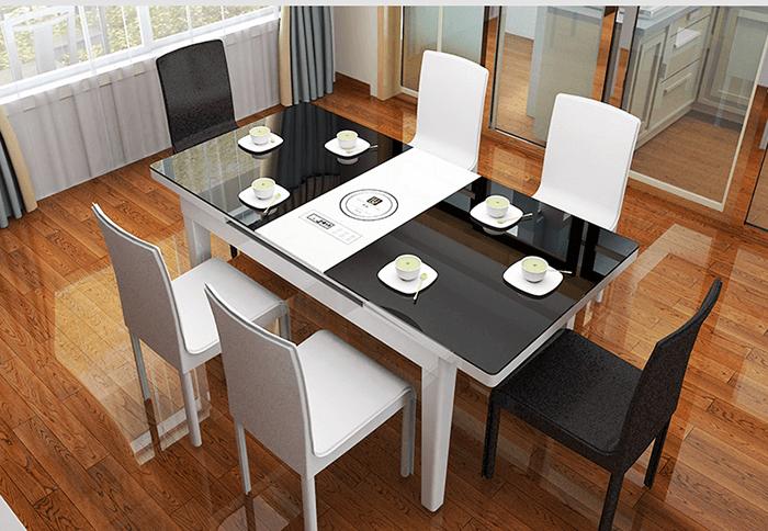 Những ưu điểm vượt trội đến từ bàn ăn thông minh mặt kính