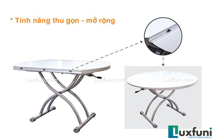 Tiết kiệm nhiều lần diện tích cùng bộ bàn ghế xếp thông minh