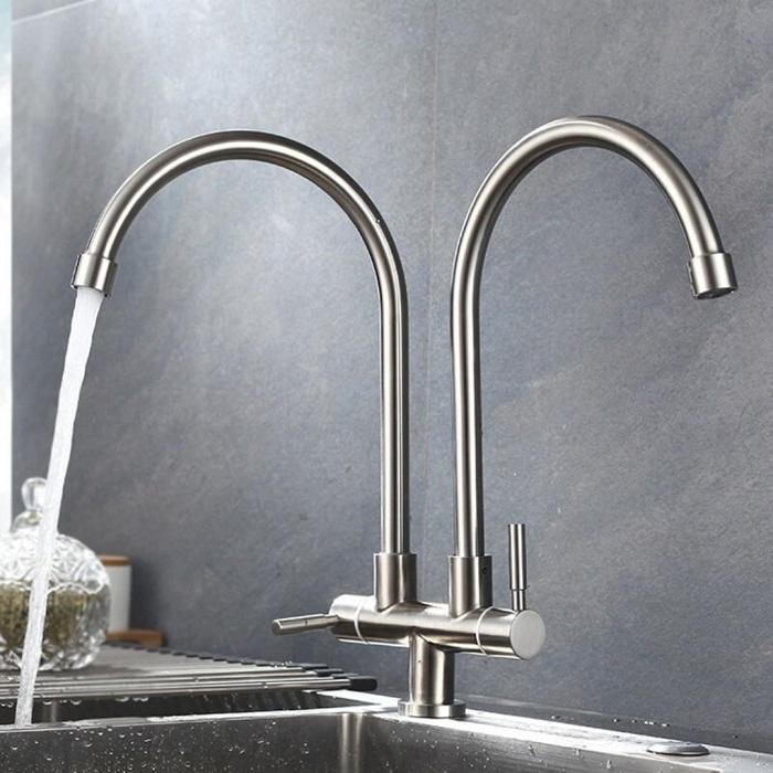 Tổng hợp các loại vòi chậu rửa bát và ưu nhược điểm-4