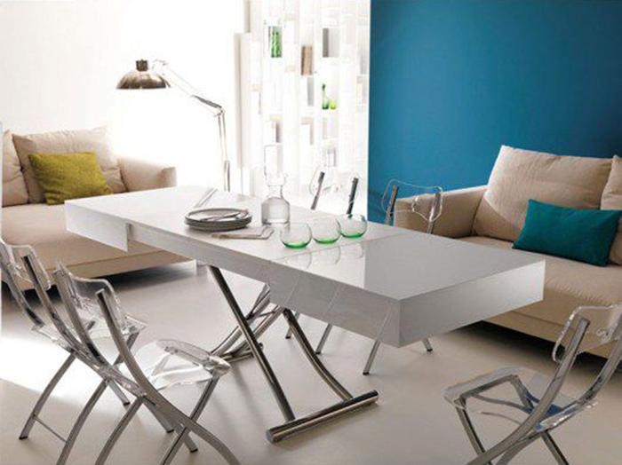 Những thông tin cần nắm khi mua bộ bàn ăn xếp gọn thông minh 6 ghế
