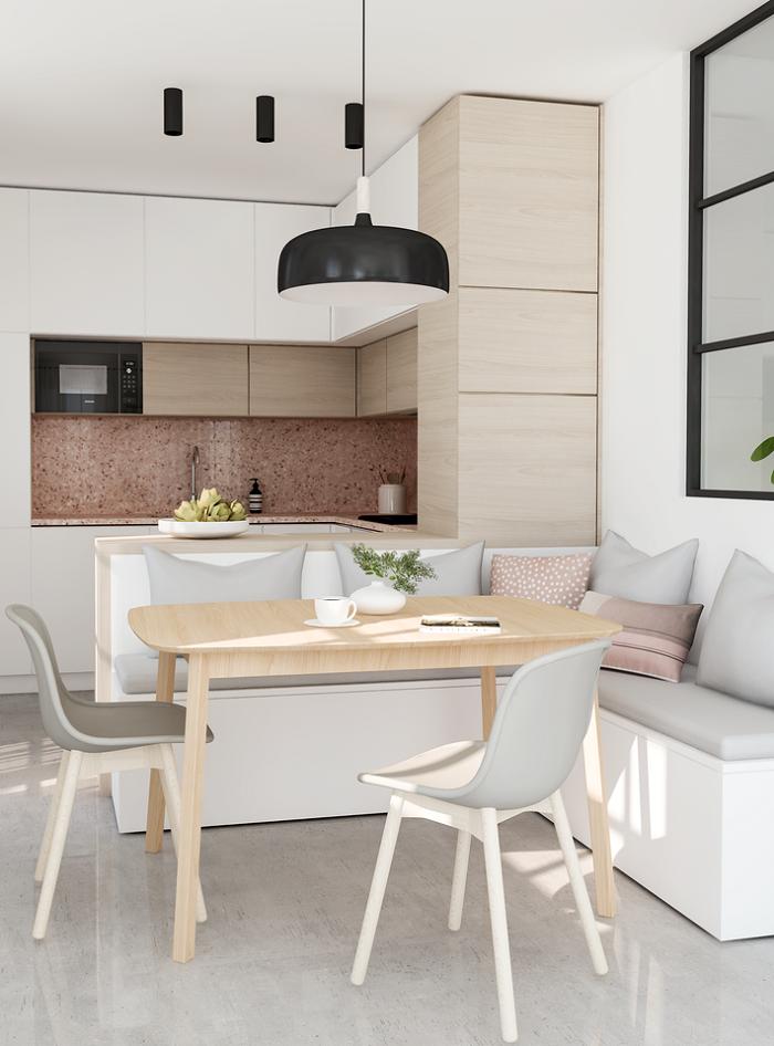 Một số mẹo hay khi thiết kế nội thất phòng bếp nhỏ-4