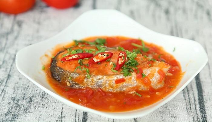 Cá hồi sốt cà chua - món ăn dành cho người bị gan nhiễm mỡ-5