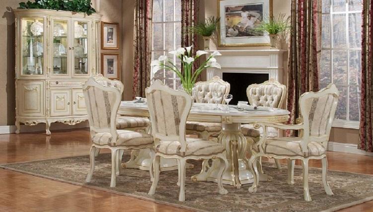 Những mẫu bàn ăn mặt đá 6 ghế đẹp thượng đẳng