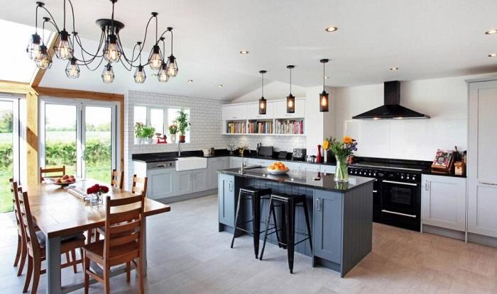 Những mẫu đèn trang trí đẹp cho căn bếp thêm bừng sáng-9
