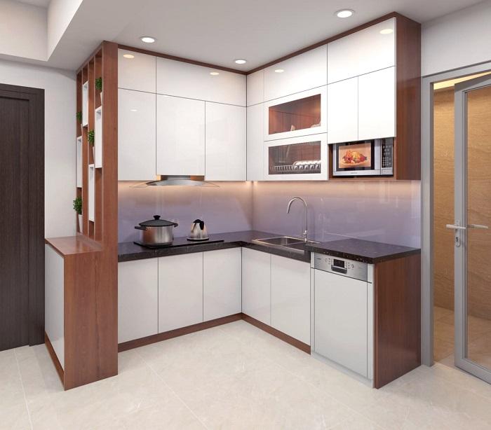 Thiết kế tủ bếp kịch trần – tối ưu không gian nhà bếp nhỏ-1