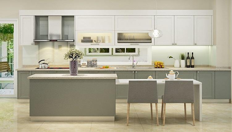 Thiết kế tủ bếp kịch trần – tối ưu không gian nhà bếp nhỏ-10