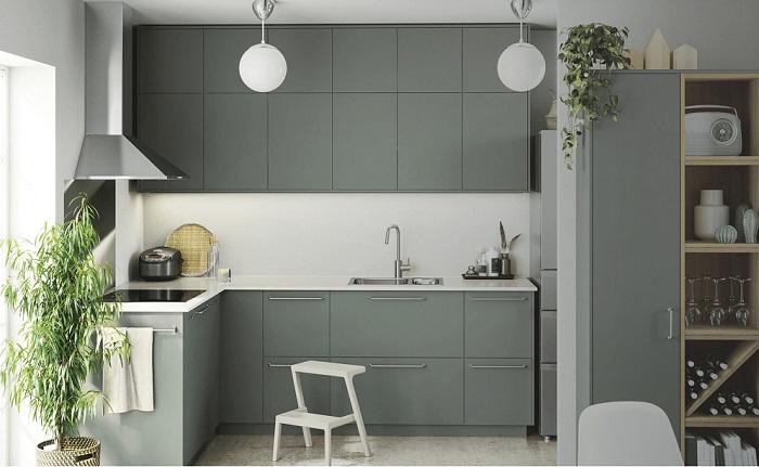 Thiết kế tủ bếp kịch trần – tối ưu không gian nhà bếp nhỏ-2