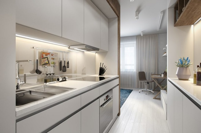 Thiết kế tủ bếp kịch trần – tối ưu không gian nhà bếp nhỏ-7