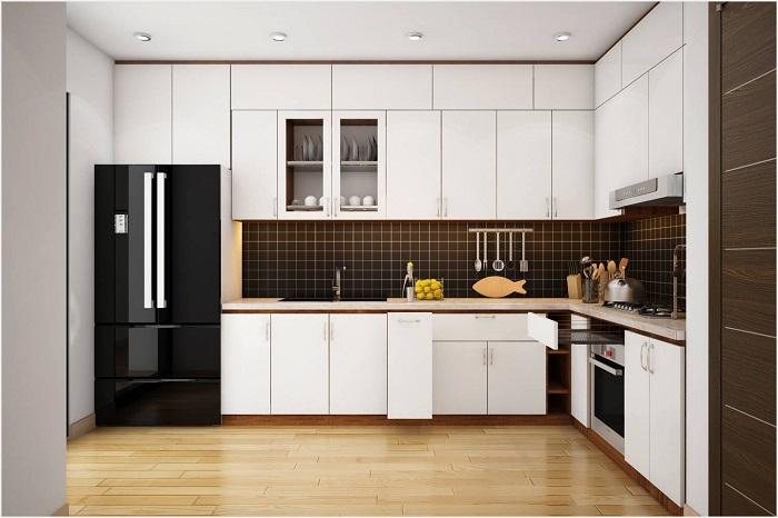 Thiết kế tủ bếp kịch trần – tối ưu không gian nhà bếp nhỏ-8