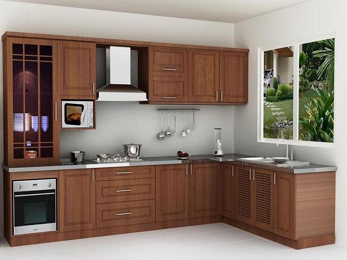 Thiết kế tủ bếp kịch trần – tối ưu không gian nhà bếp nhỏ-9