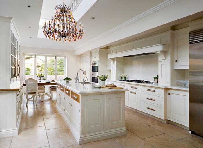 Trang trí nhà bếp đẹp theo phong cách tân cổ điển-1