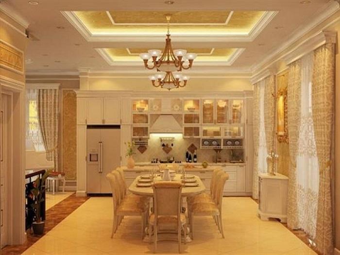 Trang trí nhà bếp đẹp theo phong cách tân cổ điển-4