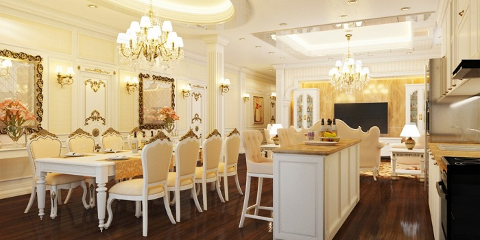 Trang trí nhà bếp đẹp theo phong cách tân cổ điển-5