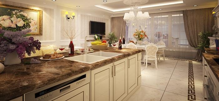 Trang trí nhà bếp đẹp theo phong cách tân cổ điển-8