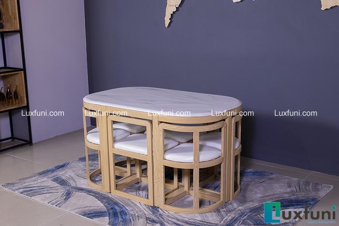 5 bộ bàn ăn 6 ghế hiện đại thiết kế đẹp thanh lịch-5