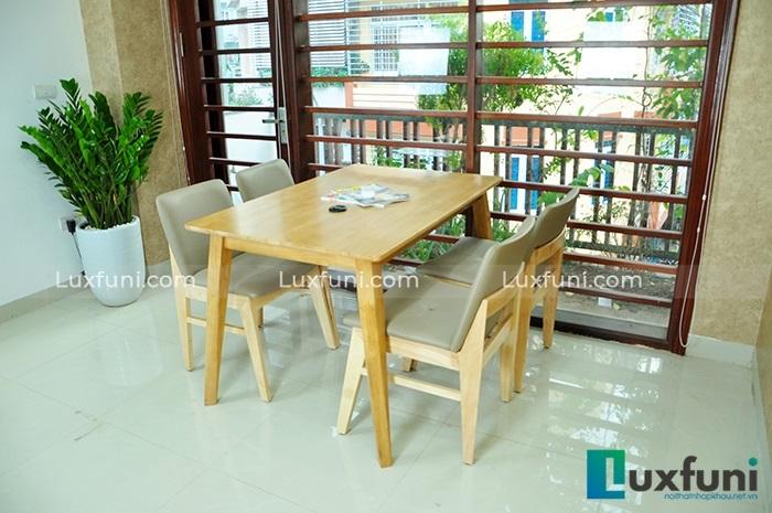 5 mẫu bàn ăn đẹp bằng gỗ tự nhiên-4