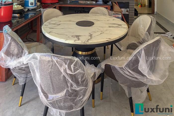 Gợi ý những mẫu bàn ăn tròn mặt đá đầy sang trọng và tinh tế -5